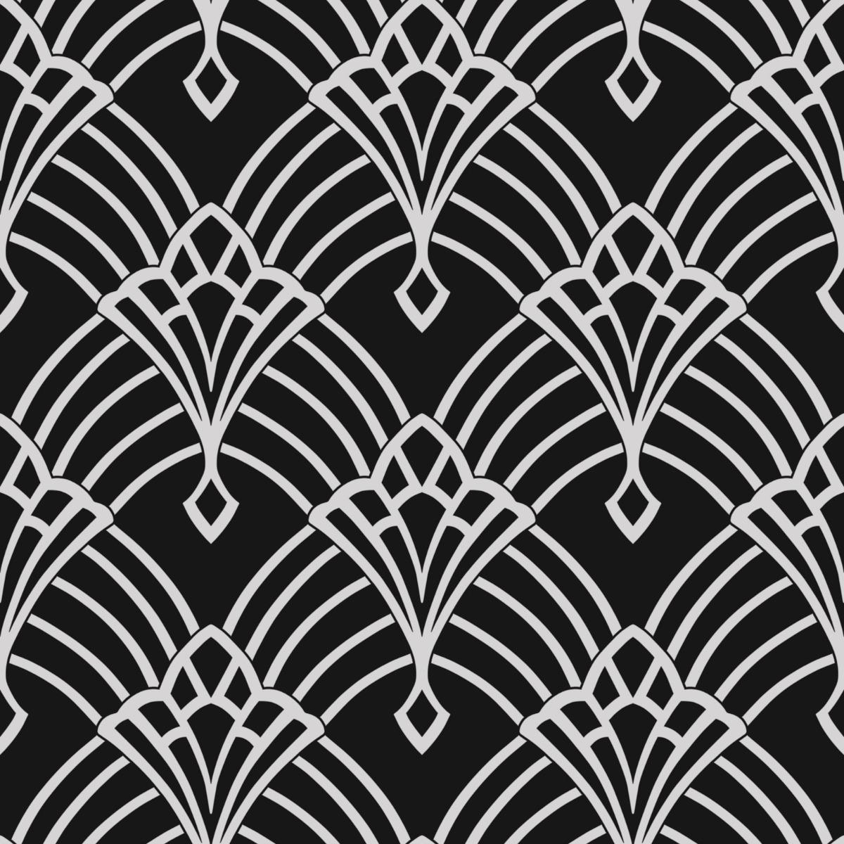 Waldorf Deco Wallpaper Black Silver World Of Wallpaper 274430