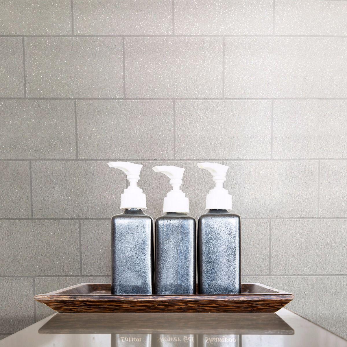 tile replica cream wallpaper