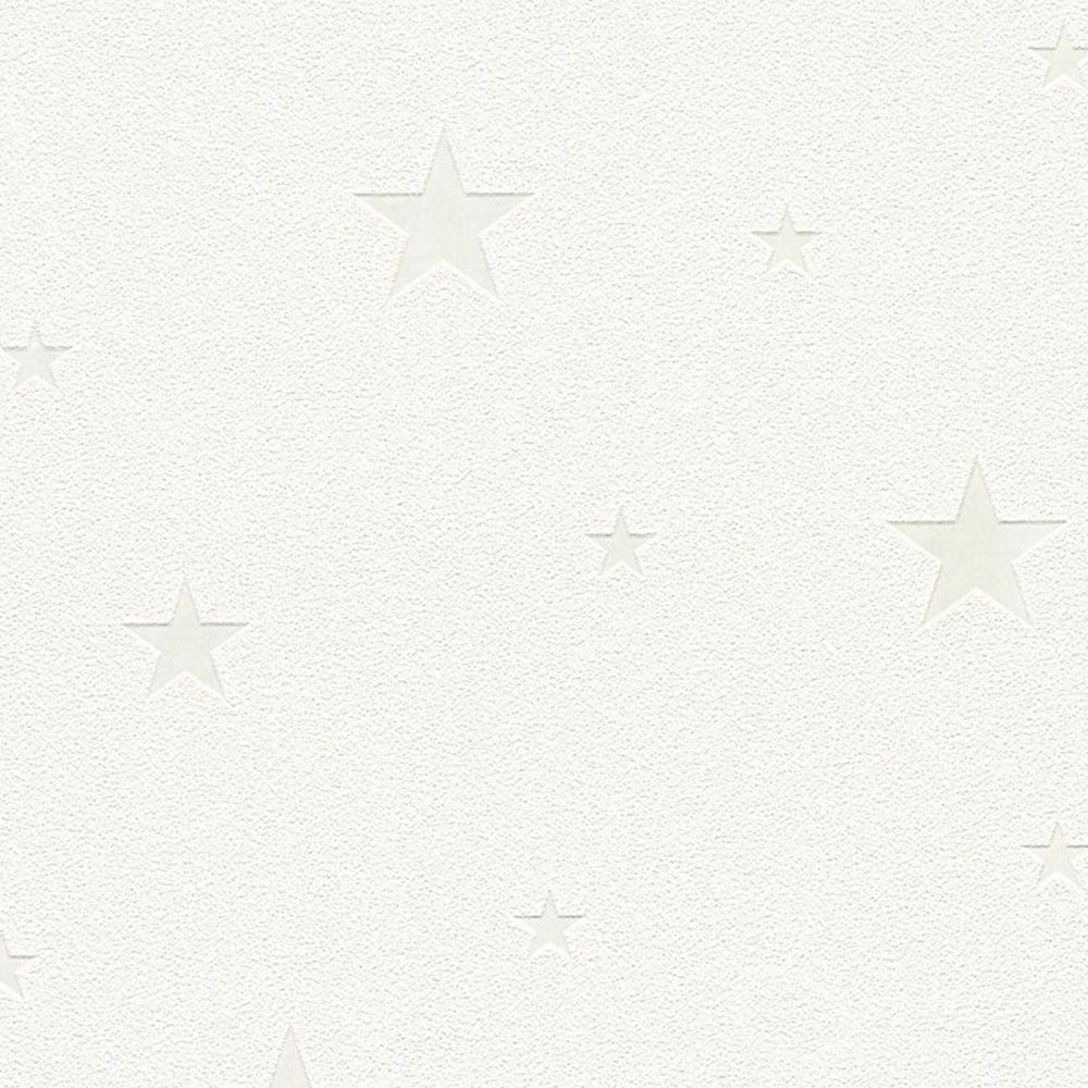 glow in the dark stars white wallpaper