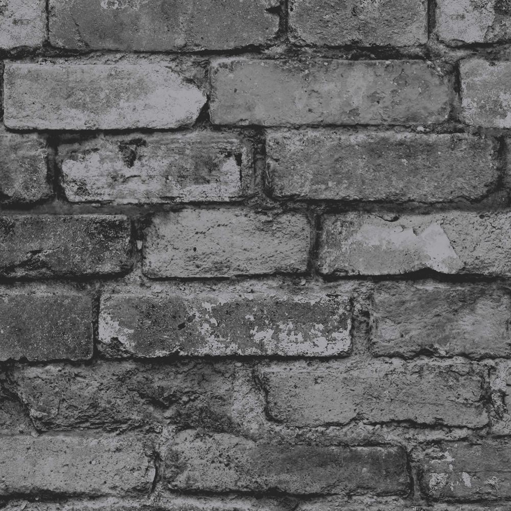 Black Grey Brick Wallpaper
