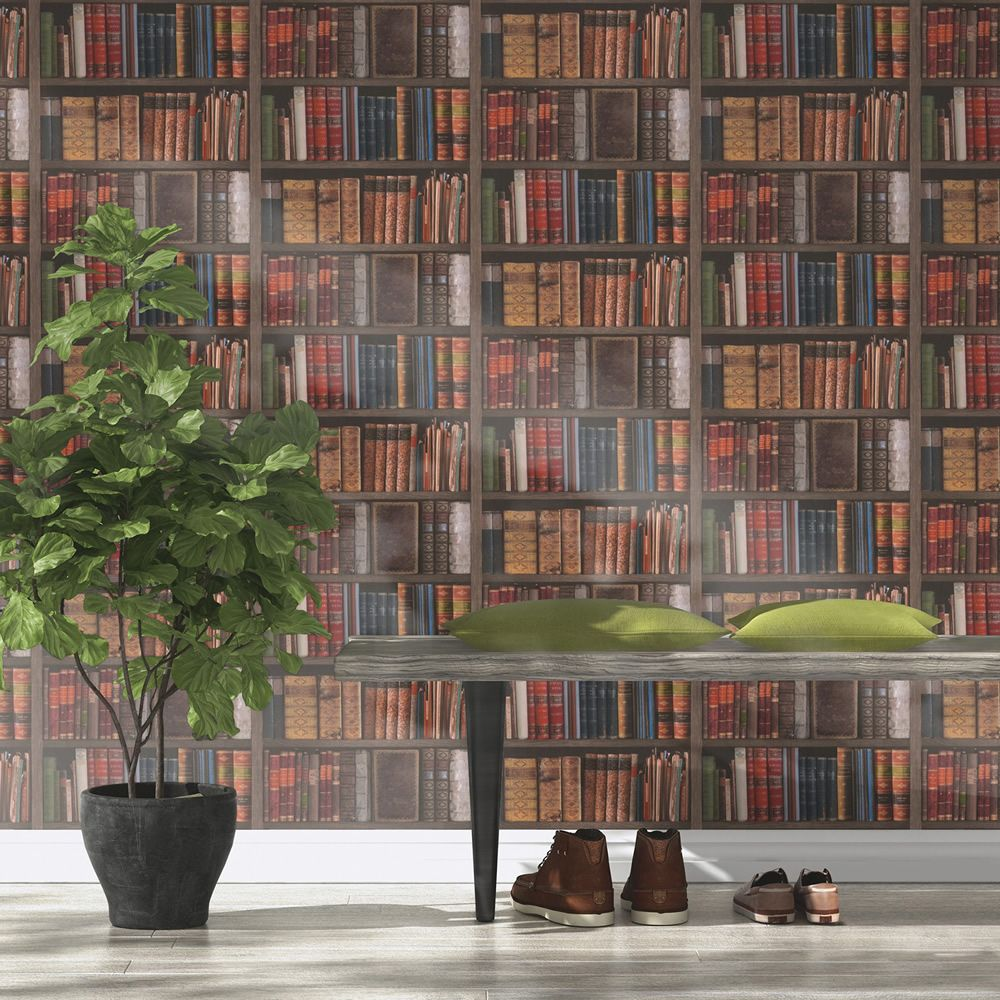 1920s bookcase wallpaper peaky blinders downton abbey library