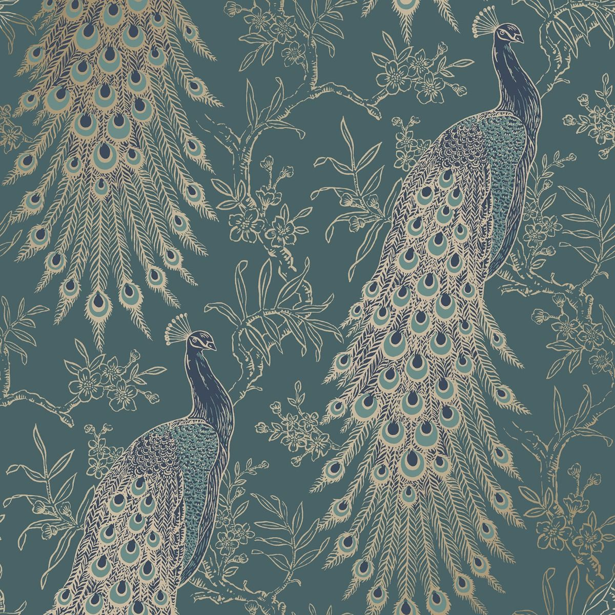 peacock wallpaper emerald green and gold wallpaper