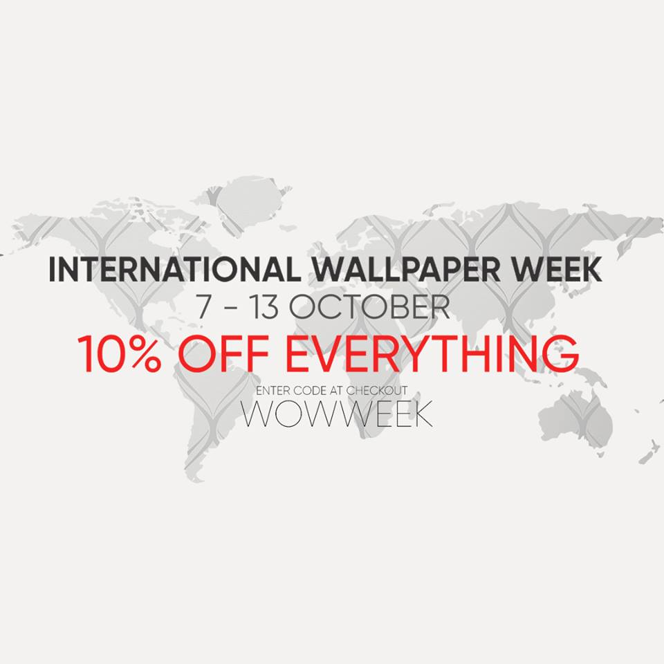 wow week discount 10% off wallpaper