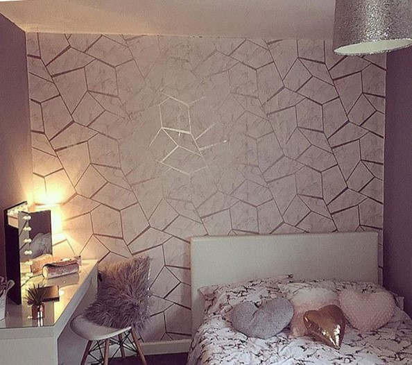 Fractal Geometric Marble Wallpaper