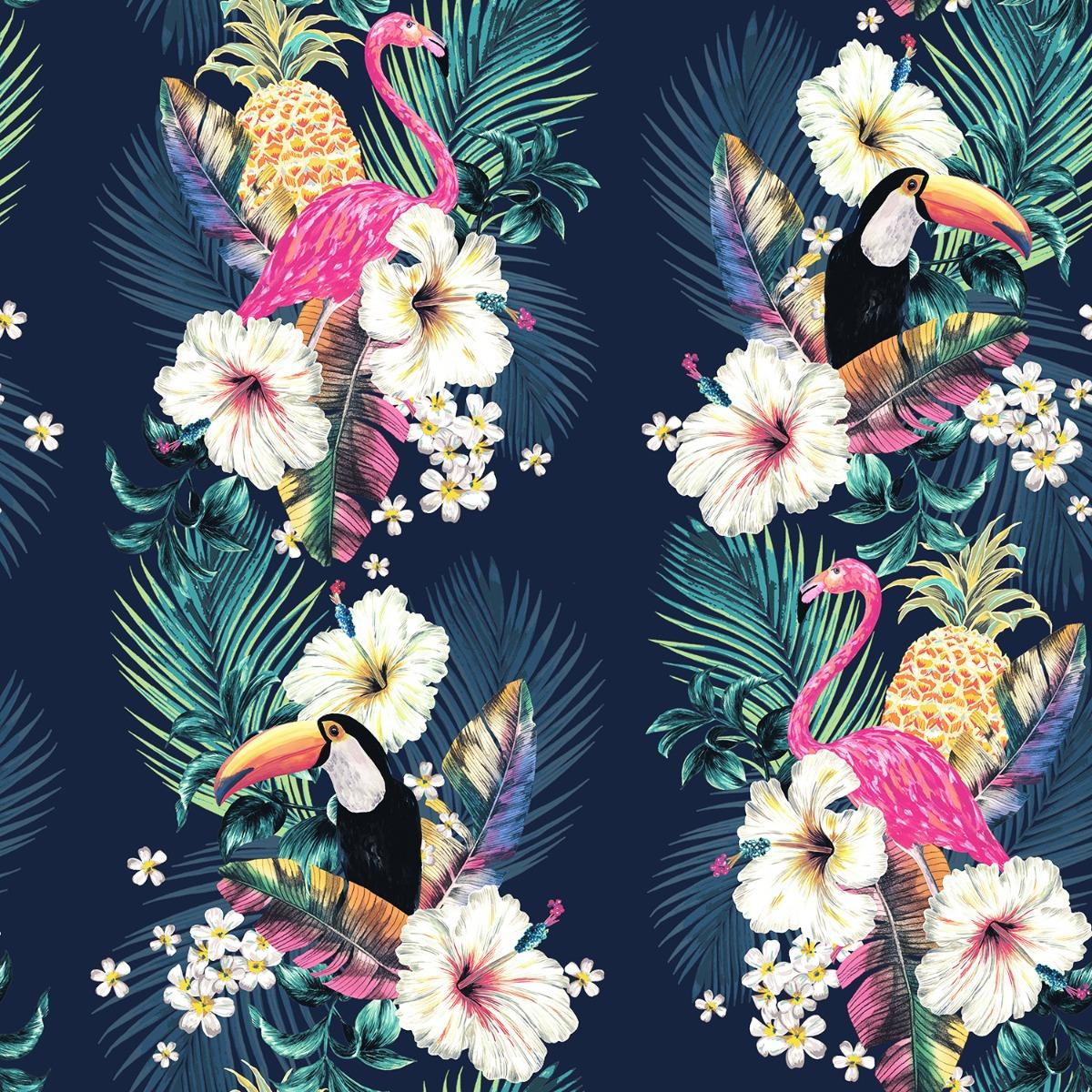 Maui Tropical Wallpaper Multi / Ink Blue Accessorize 274706