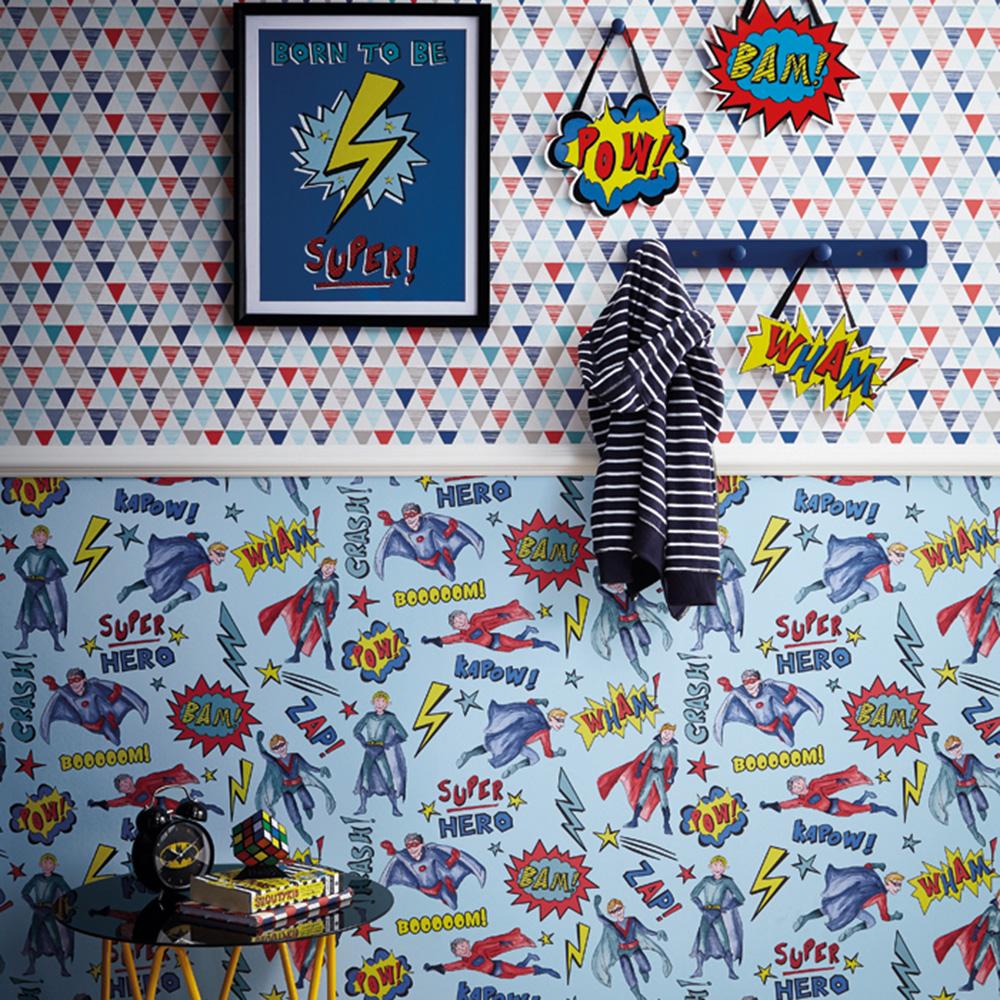 Superhero Wallpaper Blue Arthouse
