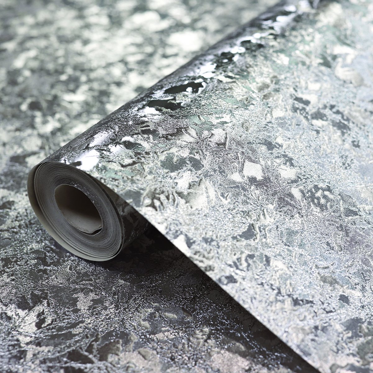 Arthouse Silver Crushed Velvet Wallpaper