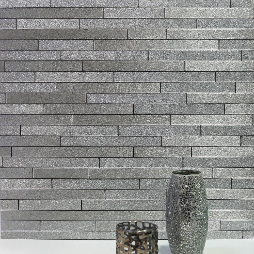 Foil Slate Wallpaper Silver Arthouse