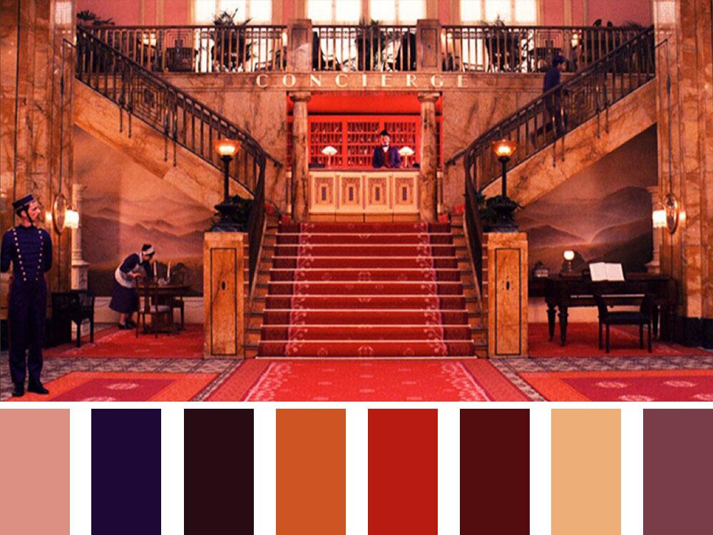 Grand Budapest Hotel Colour Palette