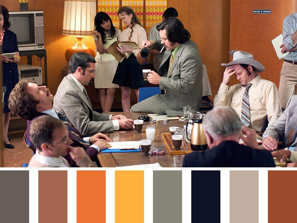 Anchorman Colour Palette