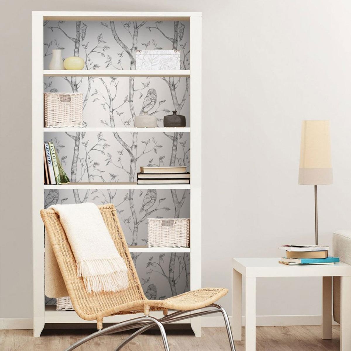 NuWallpaper Woods Peel And Stick Wallpaper Grey Fine Decor NU1412 5.5m x 0.52m