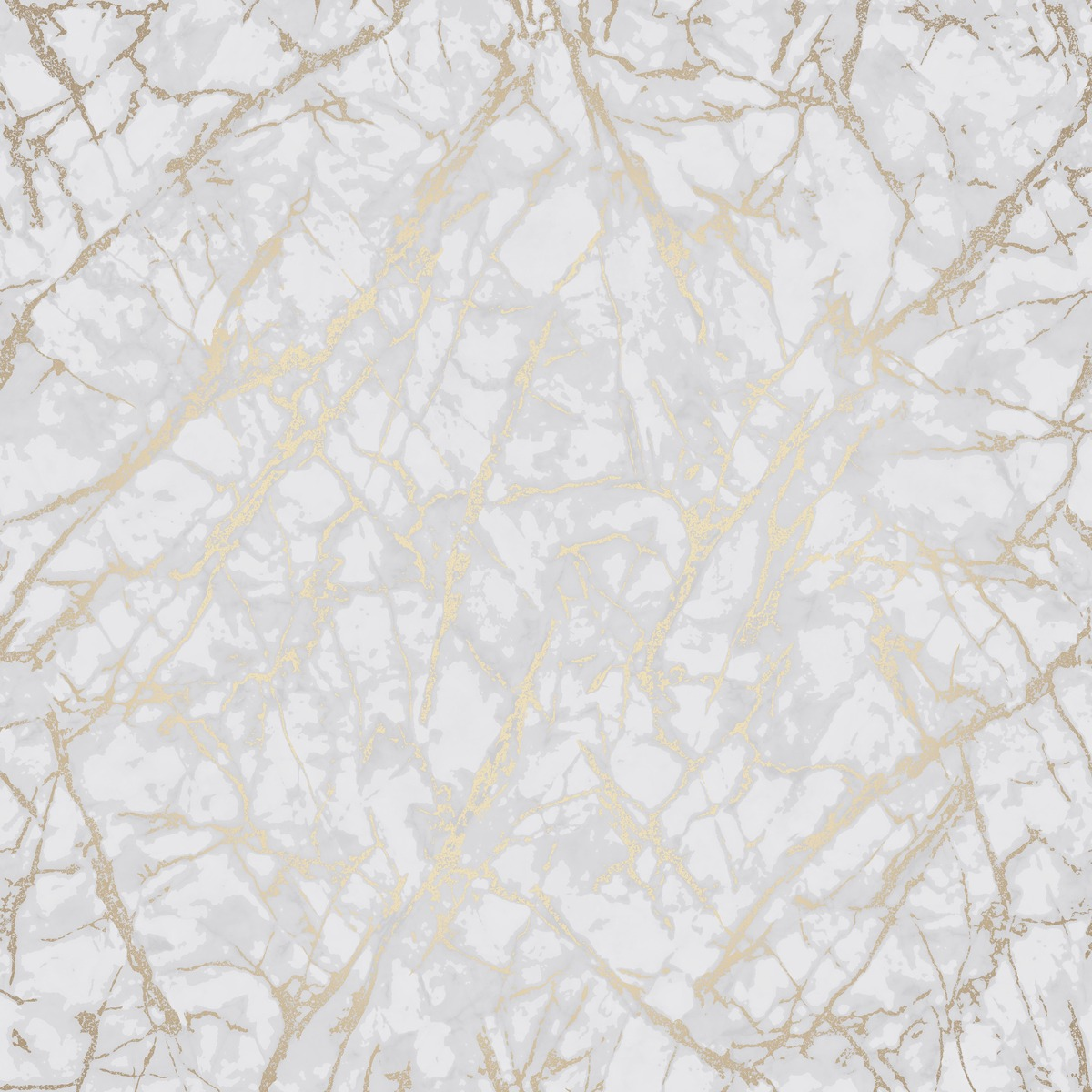 Metallic Marble Wallpaper White and Gold