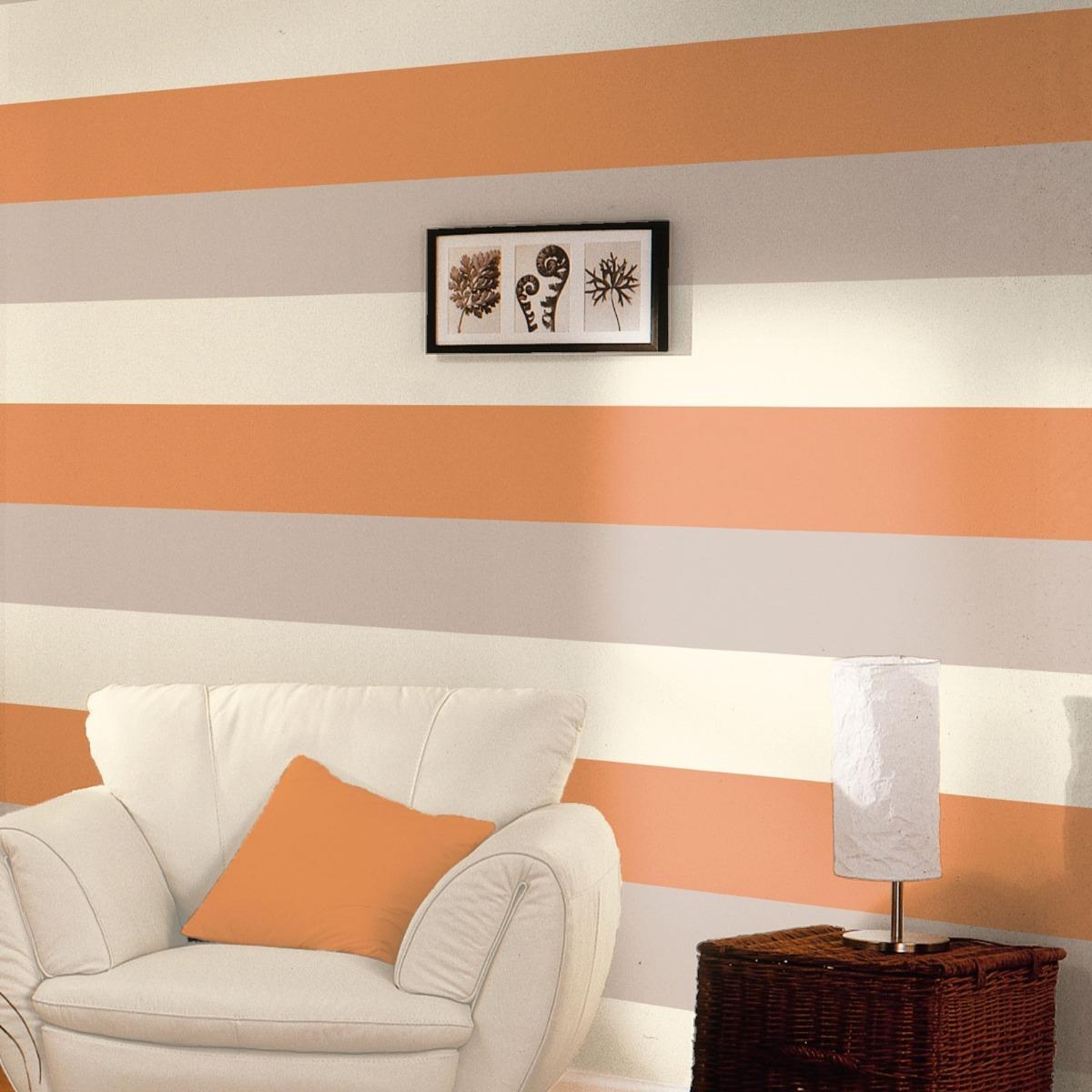 Stripe Wallpaper Orange, Coffee & Cream Direct Wallpapers E40915