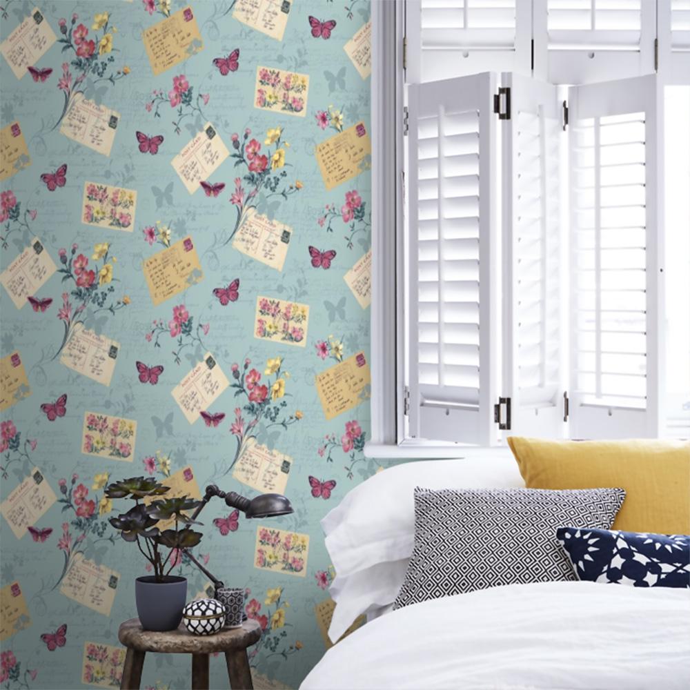 Sophie Conran Postcards Home Wallpaper Blue Haze 950902