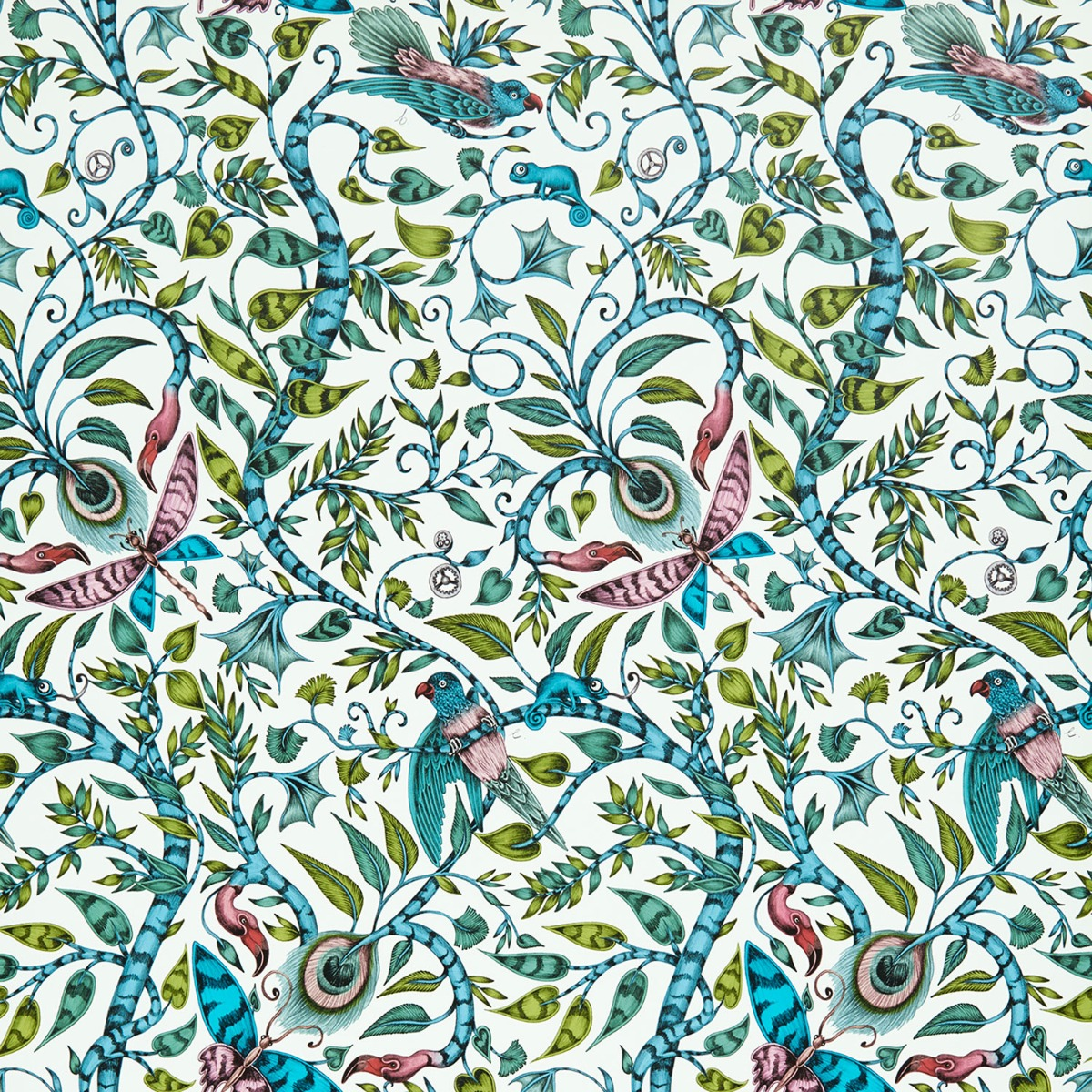 Emma J Shipley Animalia Rousseau Wallpaper Jungle W0104/03
