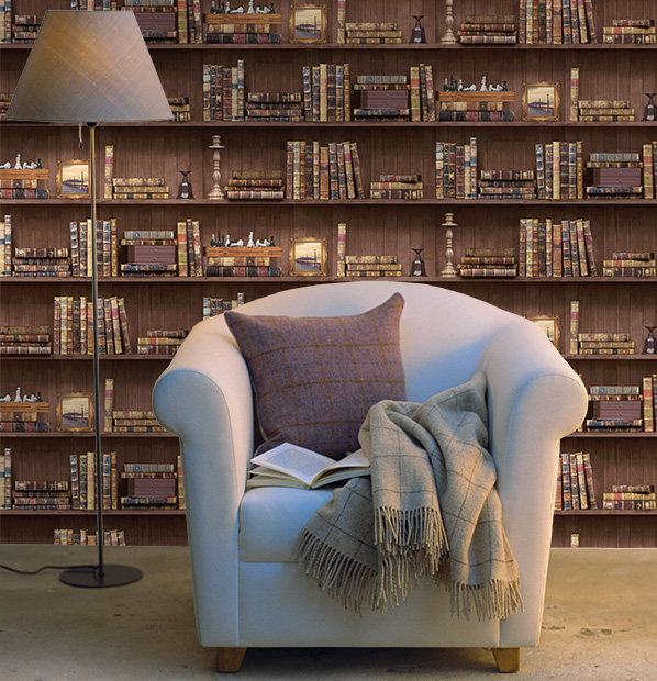 Bookcases Wallpaper Brown Holden 11950
