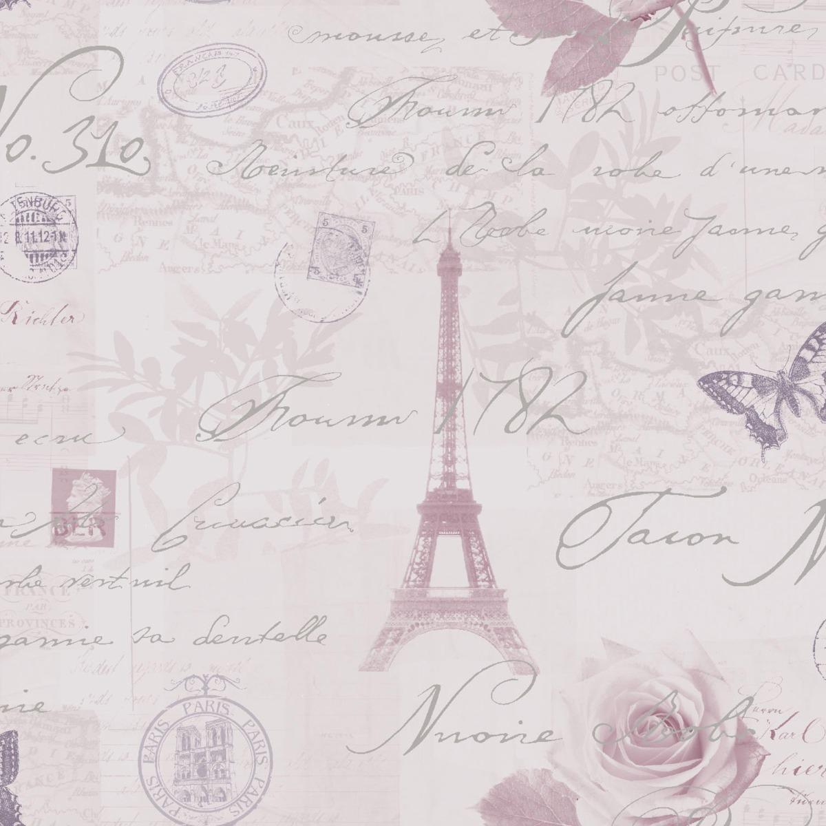 Calligraphy Paris Postcard Wallpaper Heather Holden 97751