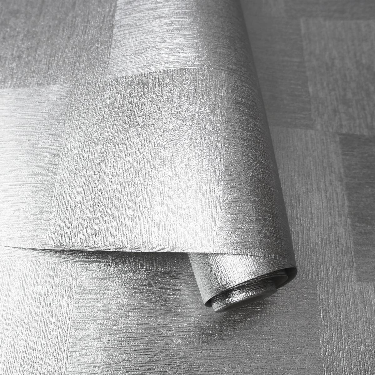 Minerals Indium Foil Wallpaper Silver Holden 35803