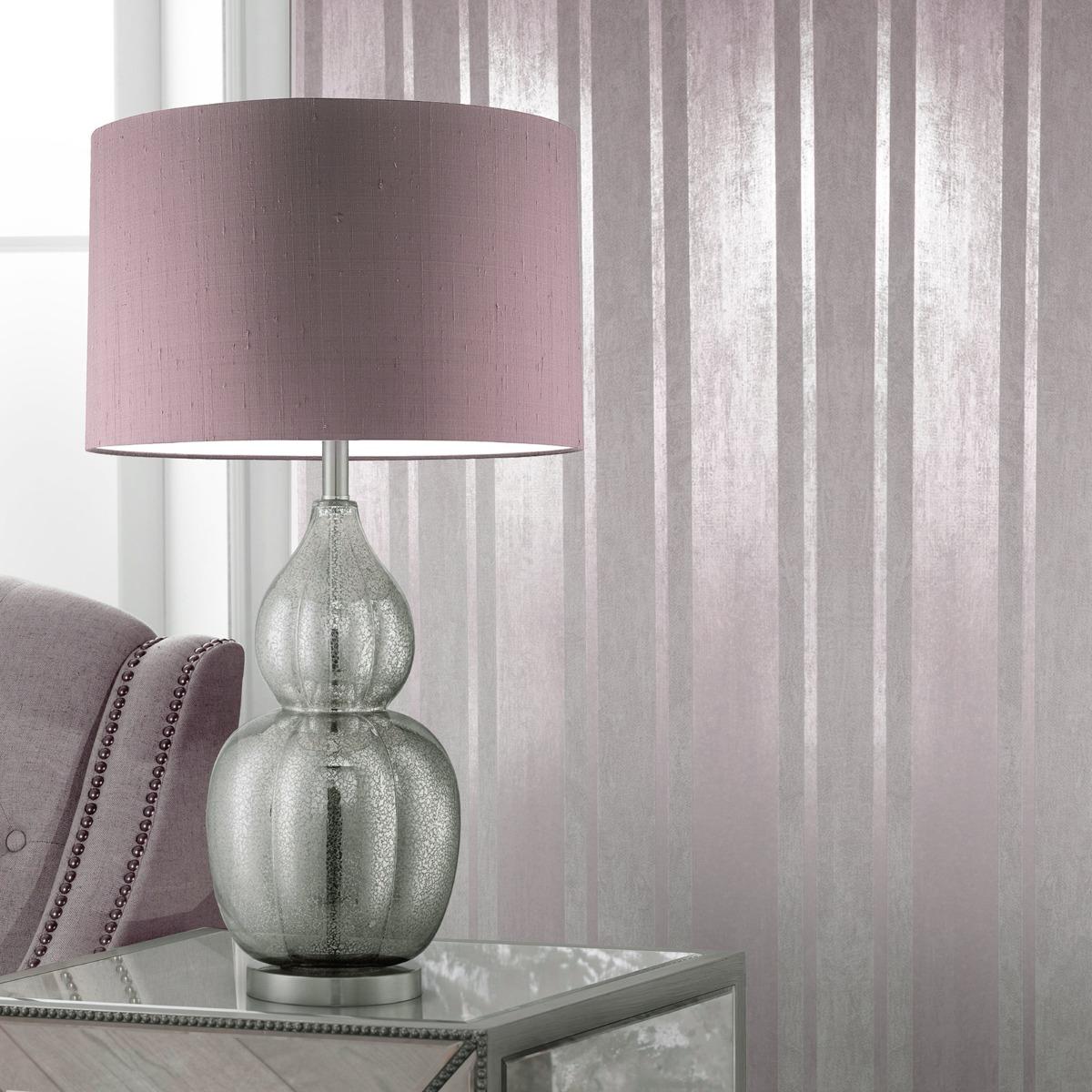 Mara Stripe Wallpaper Rose Muriva