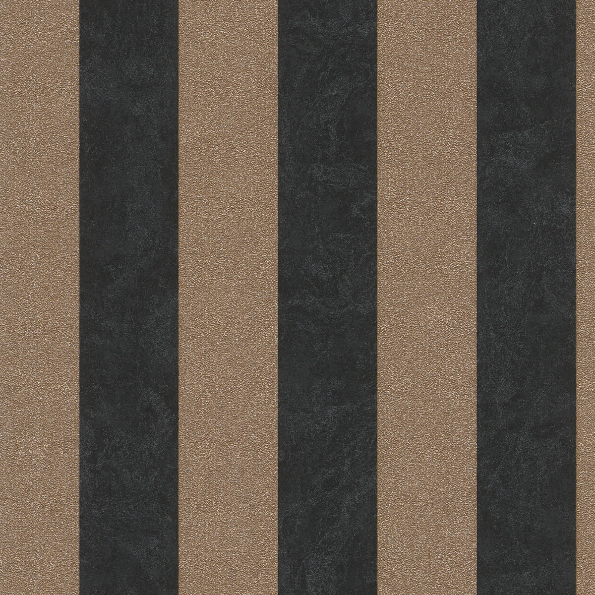 Carat Glitter Stripe Wallpaper Black and Gold