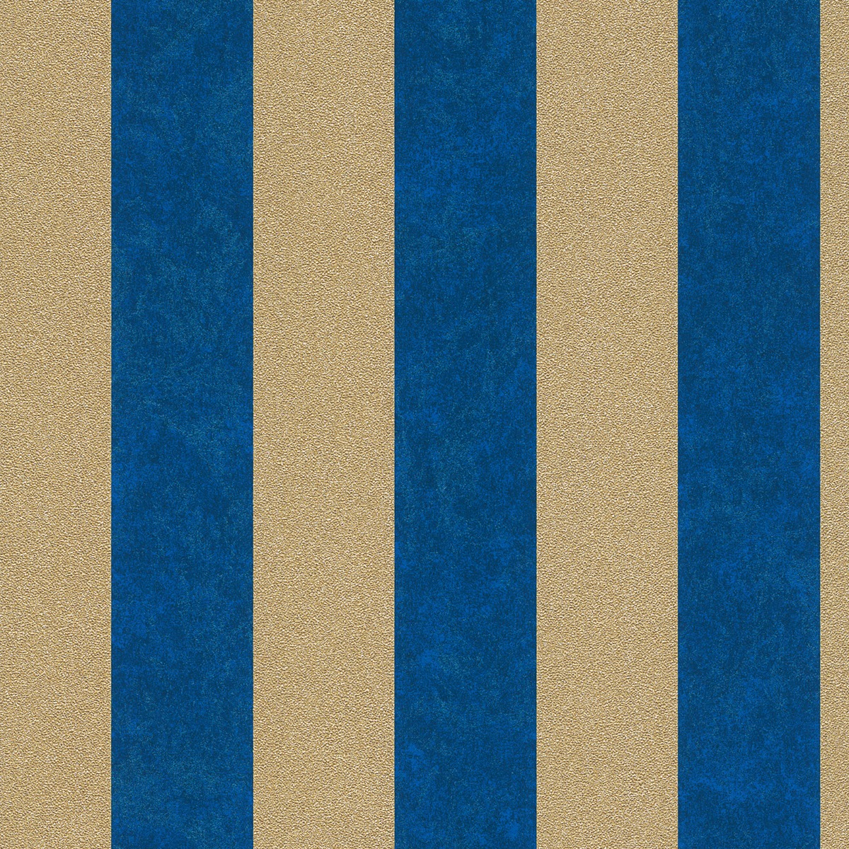 Carat Glitter Stripe Wallpaper Blue and Gold