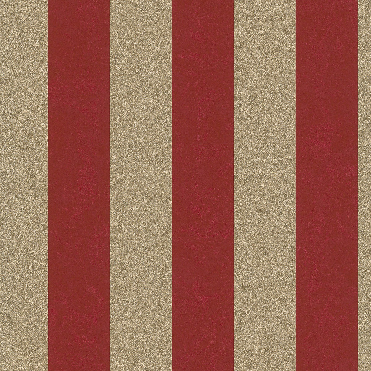 Carat Glitter Stripe Wallpaper Red and Gold