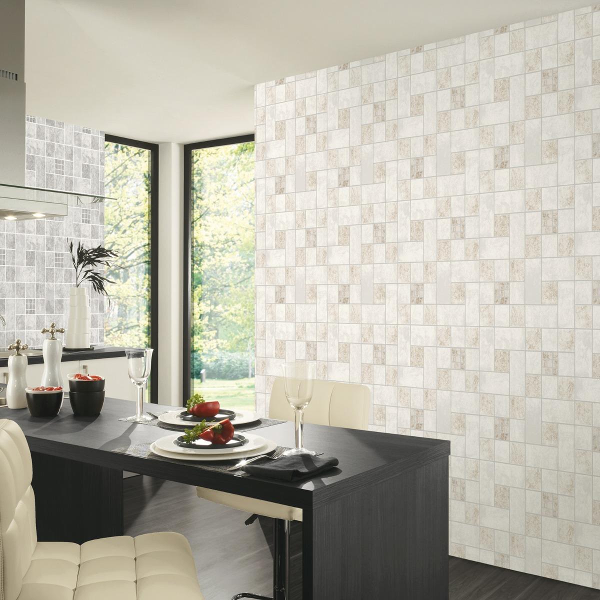 Easy Wall Tile Wallpaper Beige P+S 13476-30