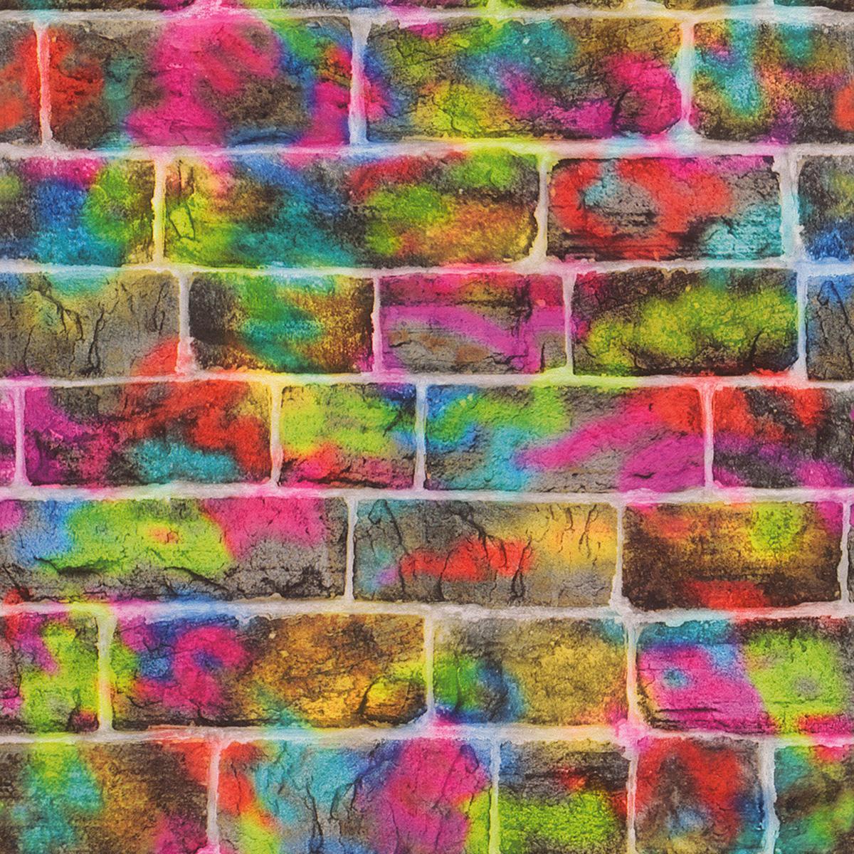 Brick Graffiti Wallpaper Rasch 291407