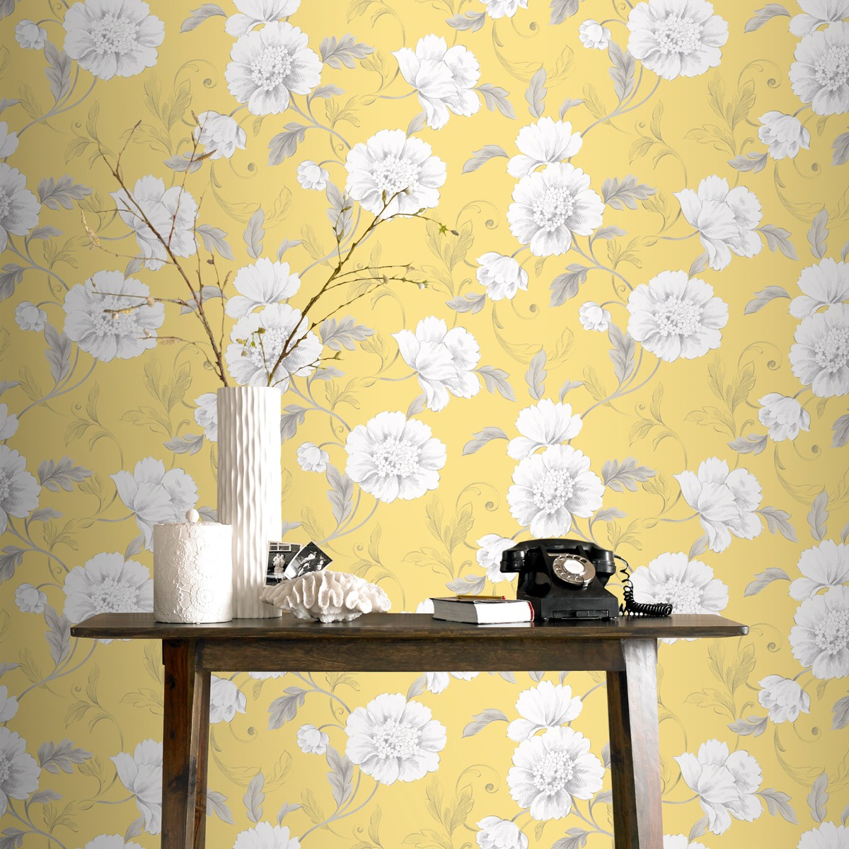 Yellow And Grey Wallpaper Trend