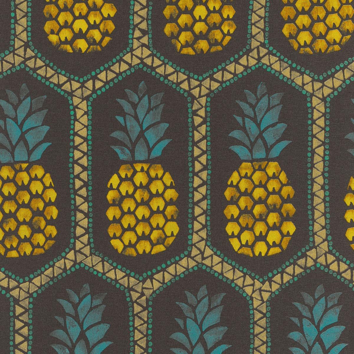 Barbara Becker Pineapple Wallpaper - Black and Yellow - Rasch 862140