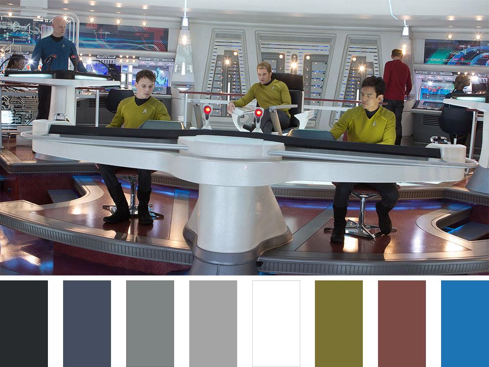 Star Trek Colour Palette