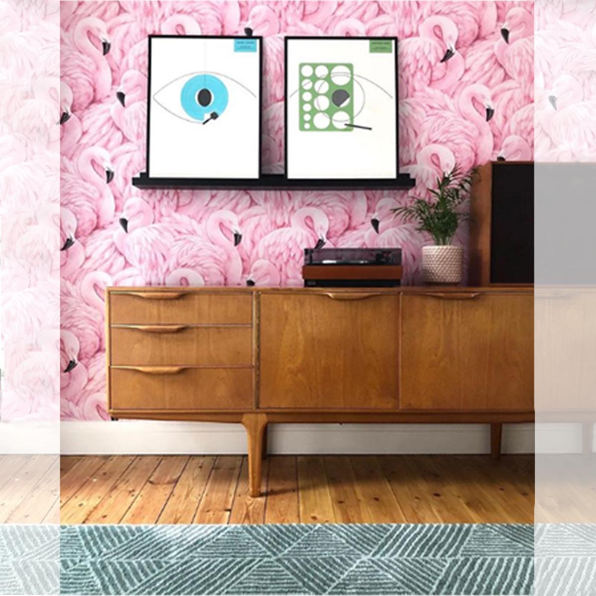 Pink Flamingo Wallpaper Instagram @diy_addict_146