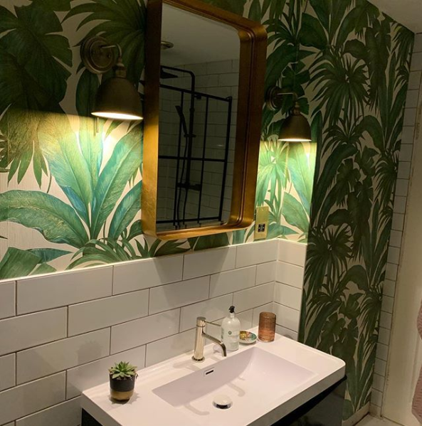 Versace Designer Wallpaper Palm Leaves Instagram @annaofderby