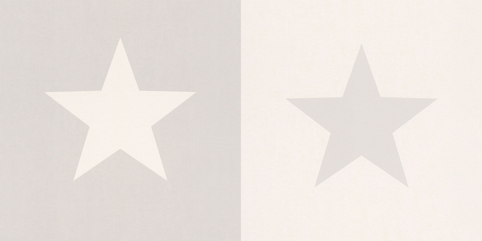 Grey and White Large Star Wallpaper
