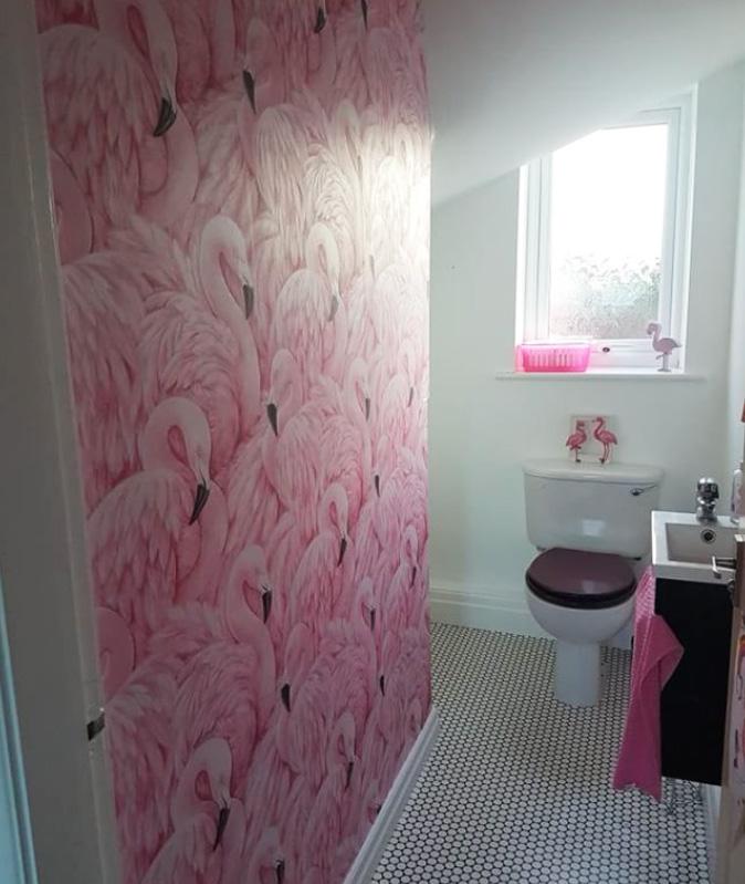 Flamingo Wallpaper Pink Rasch 277890